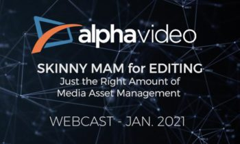 Webcast – Skinny MAM for Editing